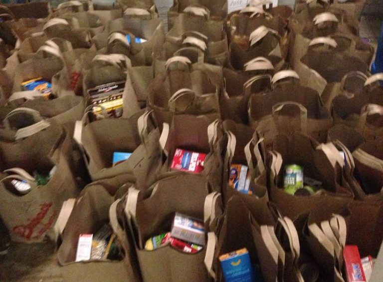 Food bags for distribution